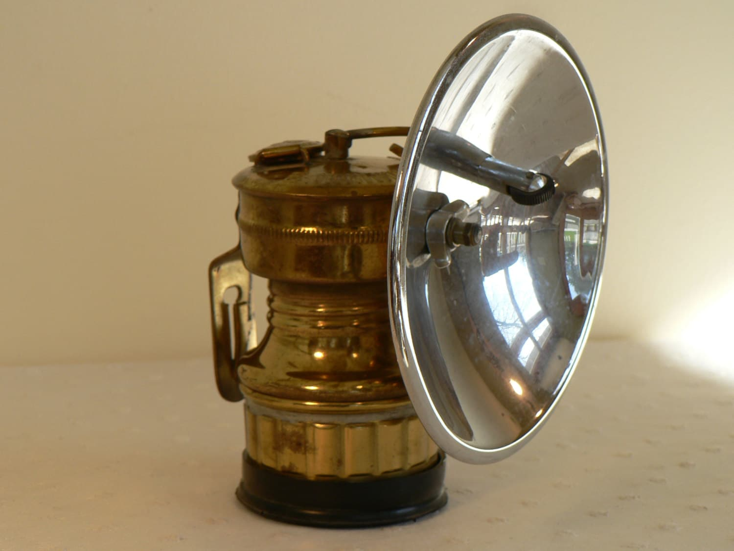 Vintage Carbide Headlamp Caving Lamp Climbing Lantern