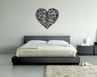 Heart wall sticker / decal  (3 sizes available)