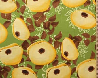 Tina Givens fabric TG 28 Mink brown green yellow Annabella Free Spirit cotton fabric sewing quilting 100% Cotton fabric by the yard