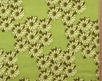 Tina Givens Zazu petals fabric TG19 Lime green wreaths Free Spirit cotton fabric 100% Cotton fabric sewing quilting fabric by the yard