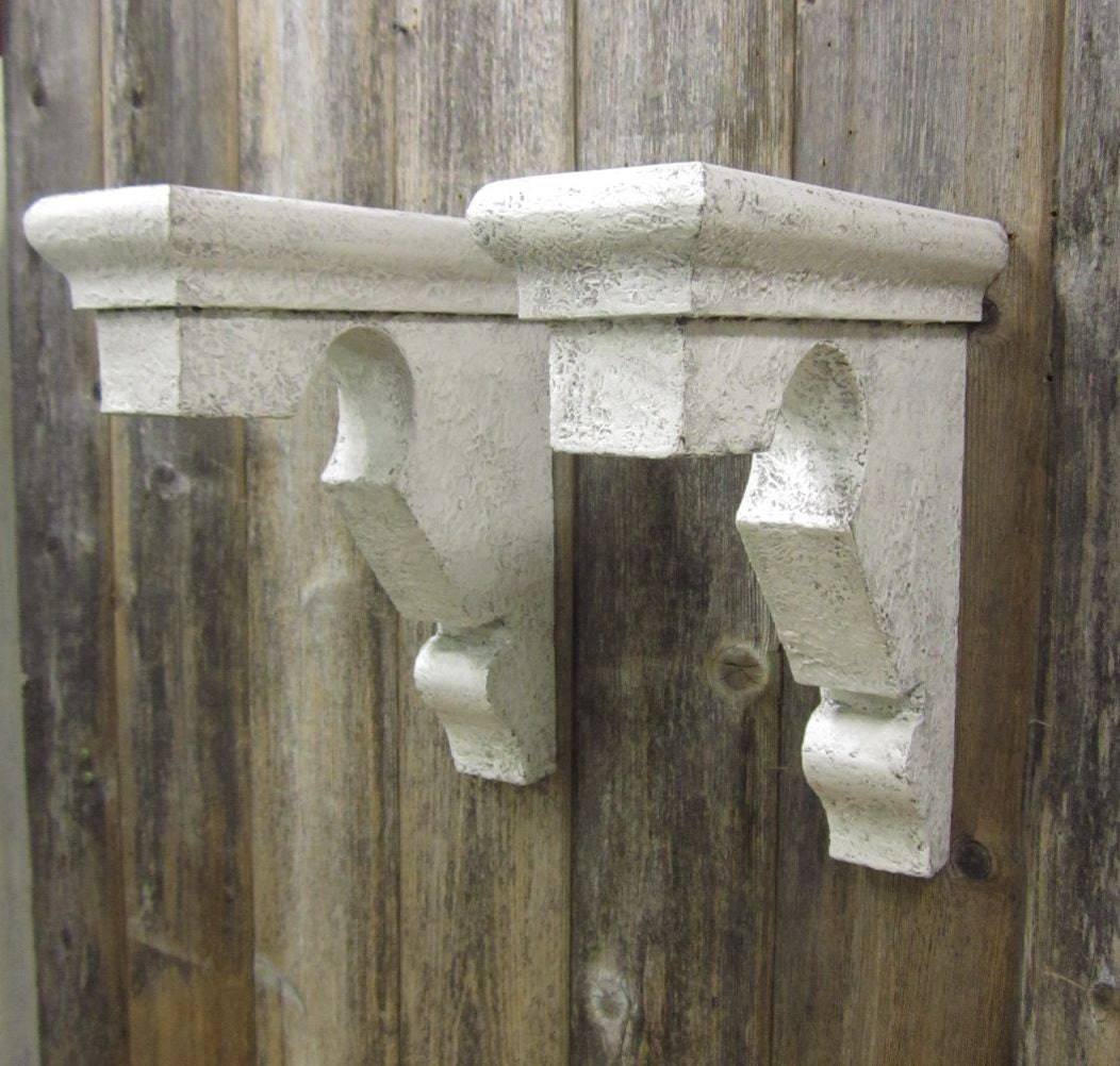 2 Vintage Corbels Shelf Brackets Mantle Supports Victorian