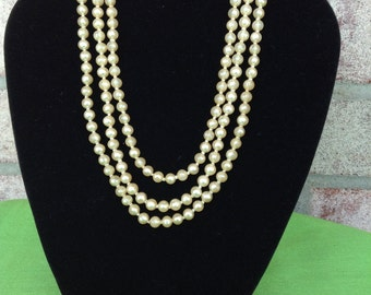 Vintage 3 Strand Bead Necklace (Item 356)