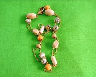 Vintage Bead and Chain Necklace (Item 738)