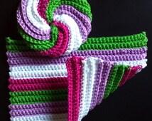 Crocheted Bath Set: Wash Cloth and Face Scrubbie