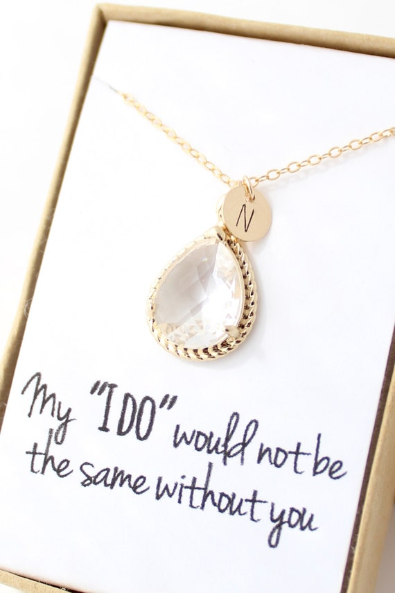 customizable bridesmaid necklace