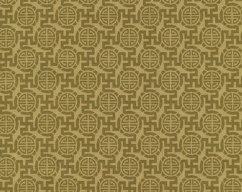 Asian Print Fabric -  Kabuki for Timeless Treasures by Chong-a Hwang C1651 Olive - Priced by the 1/2 yard