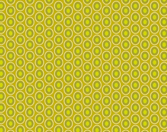 Chartreuse Polka Dot Fabric - Oval Elements Chartreuse by Pat Bravo for Art Gallery Fabrics OE 907 - 1/2 yard
