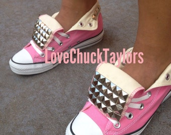 Studded Converse Shoes Pink