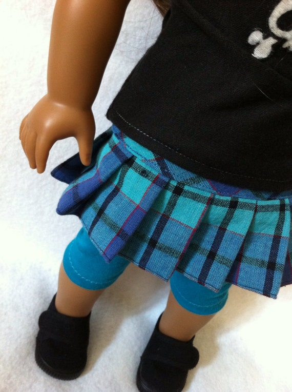 plaid teal pleated skirt blue black for by madebymomocouture