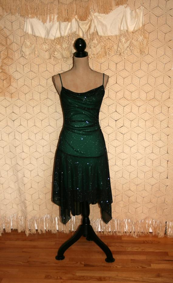 Vintage green dress sexy st patricks day party