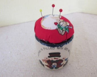 Christmas Snowman Pincushion