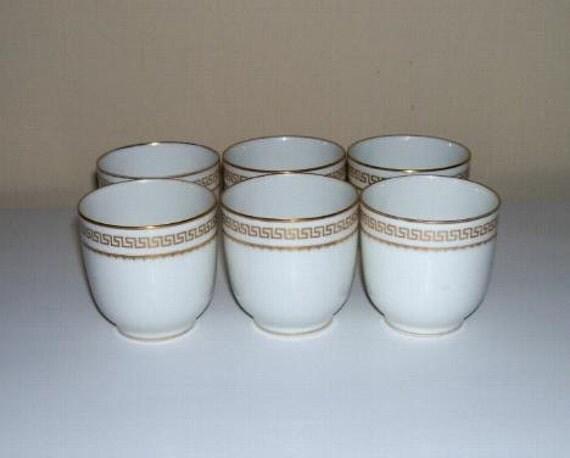 6 Charles Martin Limoges Porcelain Egg Cups By