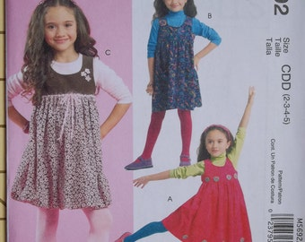 McCall's M5692. Sew Crafty and Easy. Sizes 6-7-8. Pattern is uncut and factory folded.