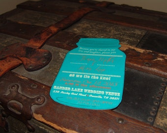 Template Mason Jar Invitation,custom invitation,custom color,rustic wedding,personalized,rustic invitation,wedding shower,country wedding