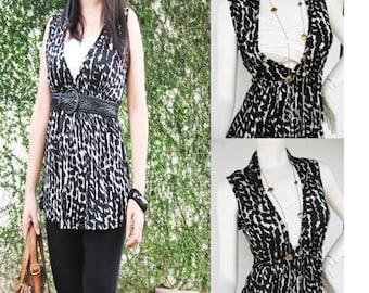 Chantel SL Top Maternity Clothing, Nursing Tops Breastfeeding Shirt NEW Original Design Animal Print Nursing Clothes