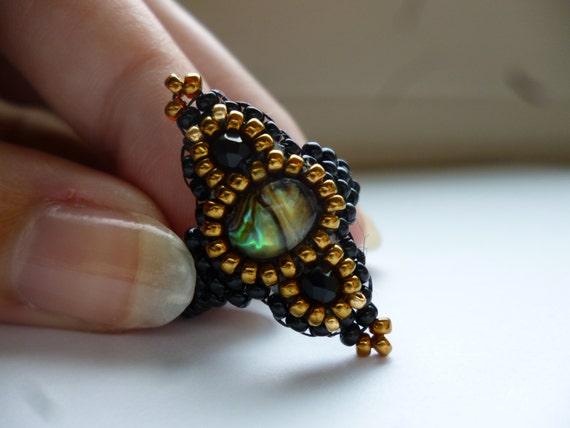 Exotic Fantasy Beaded Ring