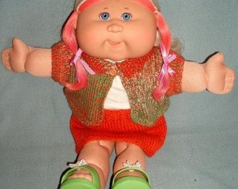 Meadow PDF KNITTING PATTERN for Doll Clothes to suit 16inch Cabbage Patch Kids Dolls & Similar