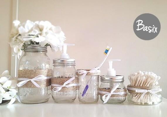 Rustic Mason Jars, Bathroom decor, Home decor, Housewares, Rustic home decor, Gift set, Housewarming Gift, Soap dispenser