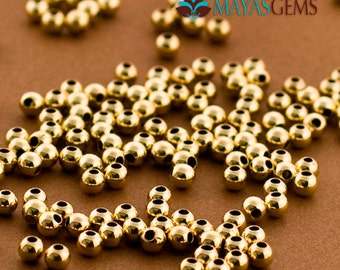 300pc. 3mm Gold Filled Beads, Goldfilled Seamless Beads, 3mm Beads, Made in USA 14/20 14kt