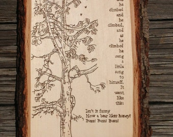 Classic Winnie the Pooh Book Page Wall Hanging