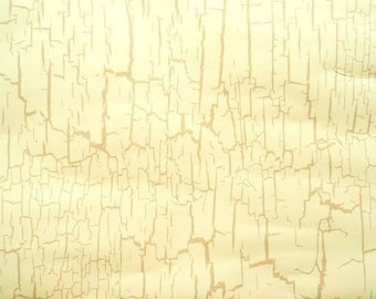 Cream And Tan Crackle Wallpaper