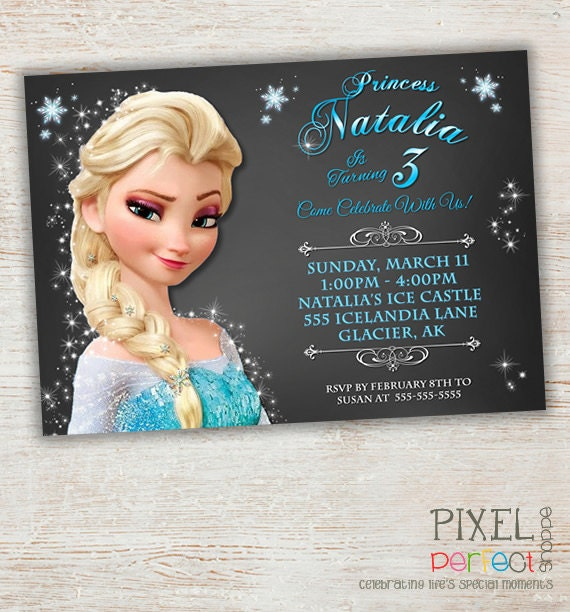 Frozen birthday invitation frozen birthday party diy best 25 frozen customized frozen birthday stopboris Images