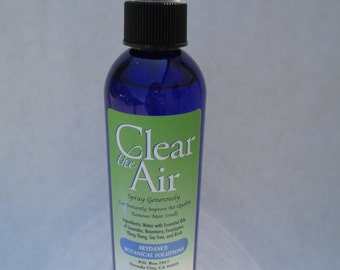 Clear the Air - Herbal Spray - Air Freshener - Really Works: Bathroom, Pets, Any Room Odor! Essential Oils & Water! Aromatherapy!