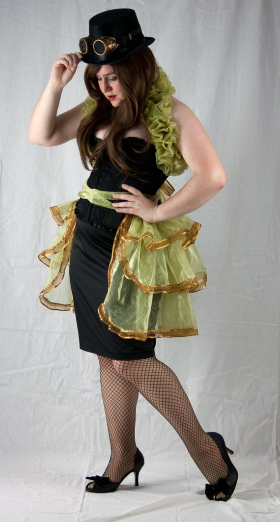 Burlesque bustle skirt and shrug set, steampunk