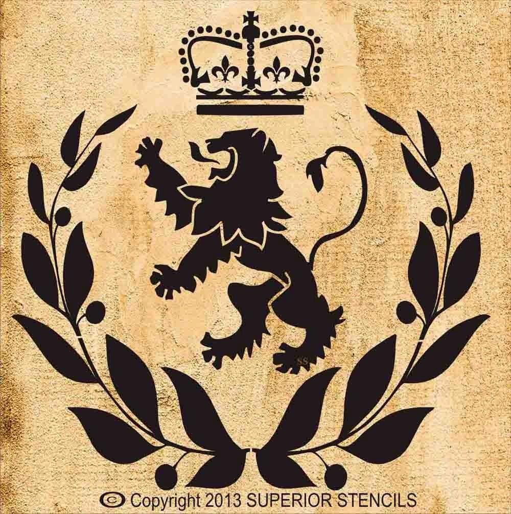 Lion Head Crown Stencil  Lion Head Crown...