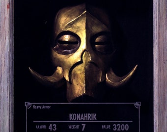 Skyrim-Inspired Konahrik Dragon Priest Mask Kit