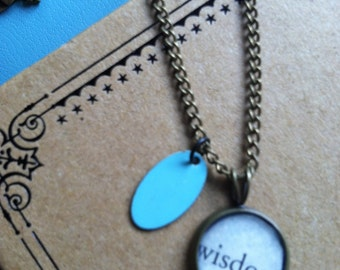 Wisdom Bookpage Pendant Necklace
