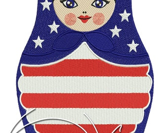 MACHINE EMBROIDERY FILE - Russian American Matreshka