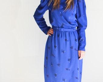 Vintage, Charlee Allison for Eljay, Royal Blue Dress