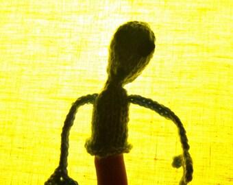 Grey Alien Finger Friend, Finger Puppet