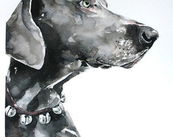 custom pet portrait, original watercolor painting, dog or cat painting, handmade gift/present