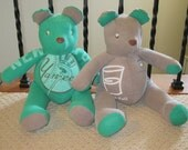 Custom Memory Bears, handmade from your clothing or fabric
