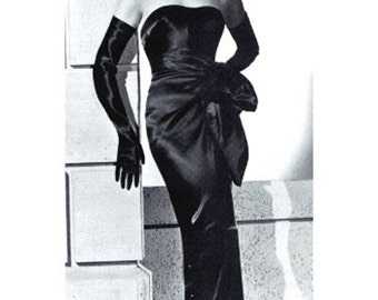 Haute Couture Rita Hayworth 1940s Style Hollywood Gown