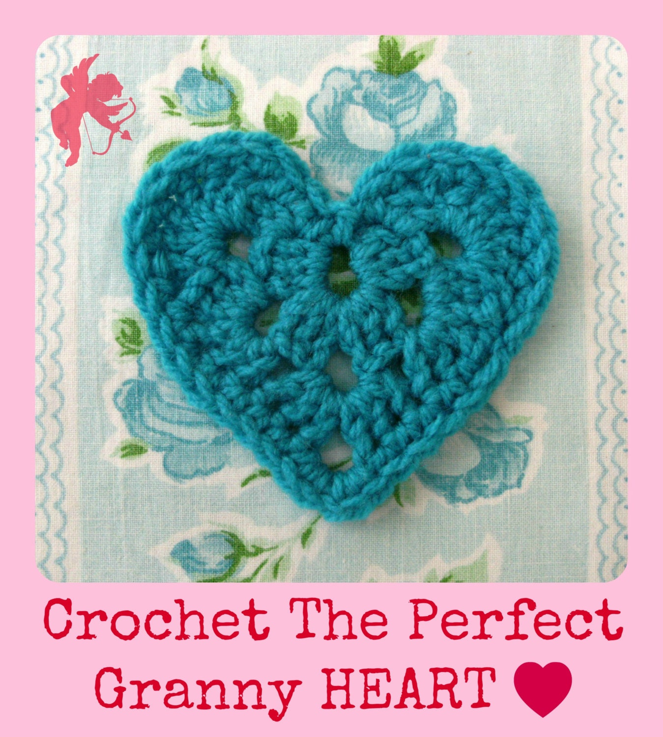 Free Crochet Granny Heart Pattern : Granny Heart & Heart Garland Crochet pattern tutorial Right