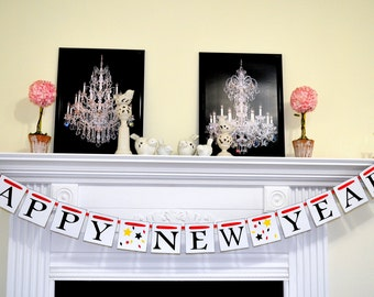 Happy New Year Banner, New Years Garland, New Year Party Decorations, Photo Prop New Years-Banners for any occasion