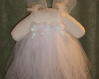 Angel Halloween Tutu Costume; White Fairy