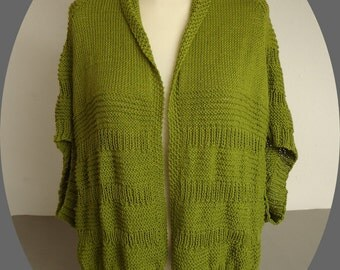 knitted in cotton jacket for summer