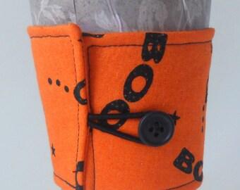 Halloween BOO Fabric Coffee Cozy