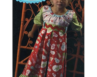 Kati Cupcake Pattern Co. Gracie Lou KC117 Childrens Dress Sewing Pattern Size 6-12 months up to 12 years