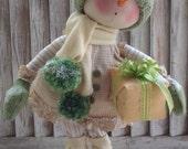 Primitive Pattern - Primitive Christmas Snow Girl Maggie E-Pattern - Snowman Pattern - Snow Girl Pattern - Snow Doll Pattern - Doll  Pattern