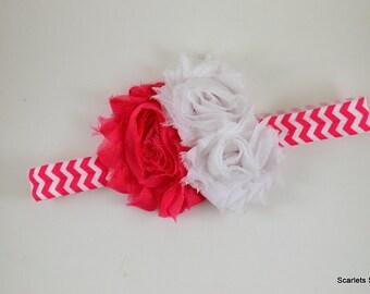 Hot Pink Chevron Headband - Baby Headband - Toddler Headband - Adult Headband