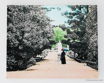 Canvas Print - Afternoon Stroll in the Botanic Gardens c.1906 - Original artwork