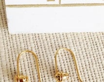 Convert Post Earring to Wire ~ PTW Hook Converter GOLD or SILVER by E'arrs