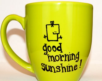 Hand Drawn Good Morning Sunshine! Mug (Customizable)