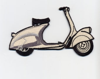 Vintage 1945 Vespa MP6 Cloth Patch Badge Lambretta MOD