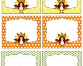 Thanksgiving Turkey Name/ Food Labels Printable * instant download